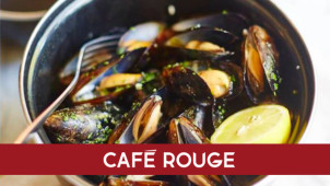 2 Courses and a Glass of Fizz for £12.95pp at Café Rouge