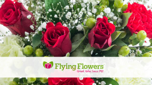 14% off Bouquet Orders plus Free Delivery at Flying Flowers