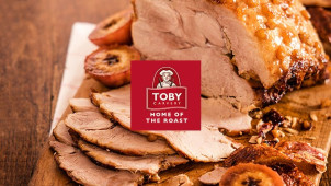 25% off When you Spend £15 at Toby Carvery