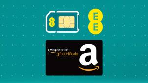 £60 Amazon Voucher with EE Sim Only Contracts Over £21.99