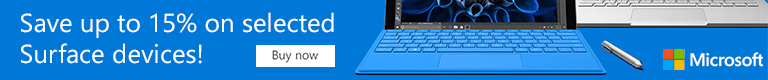 15% off selected Surface Book devices at Microsoft Store